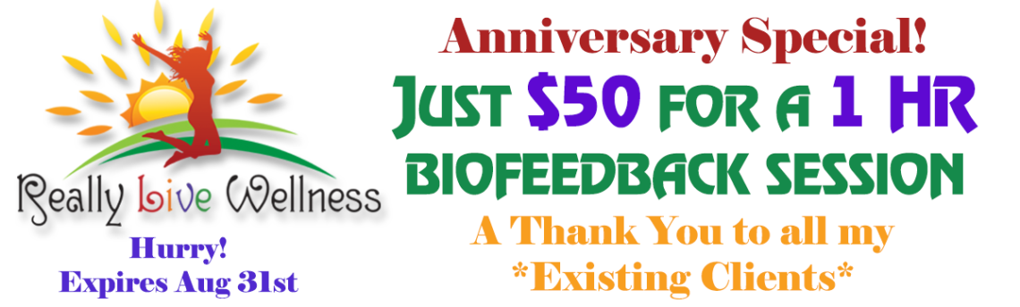 Anniversary Special: $50 for a 1 Hour Session