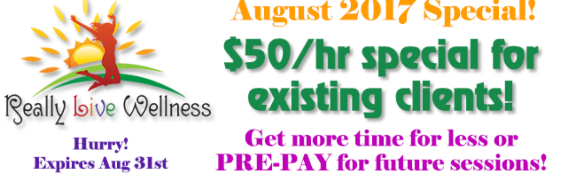 August Special: $50/hr for existing clients!